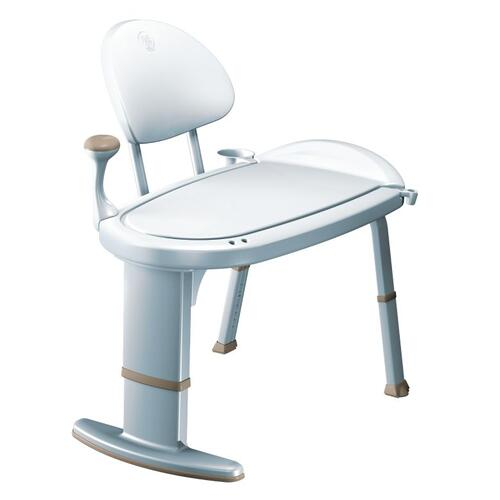 Moen Home Care glacier transfer bench