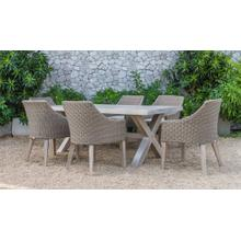 Renava Gazos - Outdoor Beige Dining Set