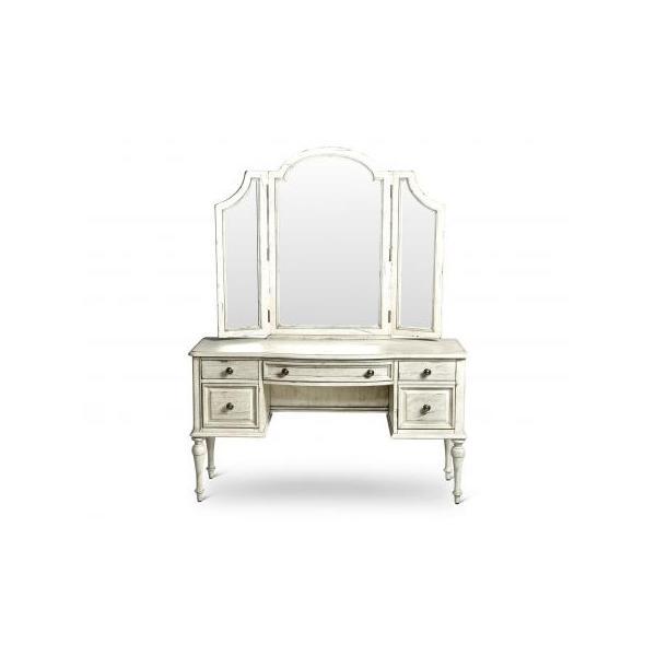 Highland Park Vanity Desk, Cathedral White
