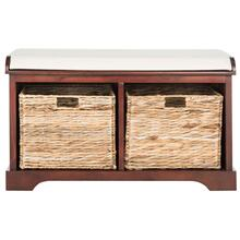 Freddy Wicker Storage Bench - Cherry