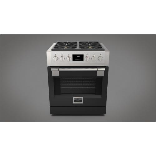 "30"" All Gas Pro Range - Glossy Black"