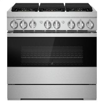 """36"""" NOIR™ Dual-Fuel Professional-Style Range"""