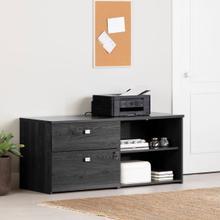 Interface - 2-Drawer Credenza, Gray Oak