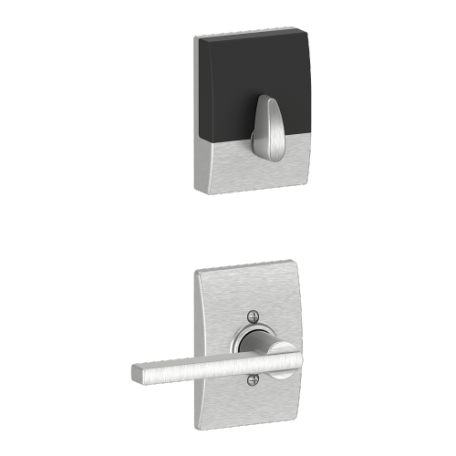 Schlage - Century Style Schlage Touch and Latitude Lever - Satin Chrome