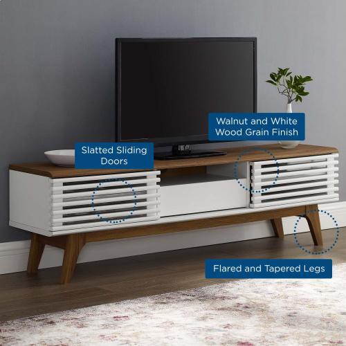 """Render 59"""" TV Stand in Walnut White"""