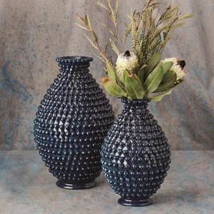 Pinecone Vase-Cobalt-Lg
