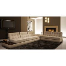 Divani Casa 5055 - Modern Bonded Leather Sectional Sofa