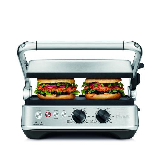 Breville Canada - Grills & Sandwich Makers the Sear & Press™ Grill, Brushed Stainless Steel