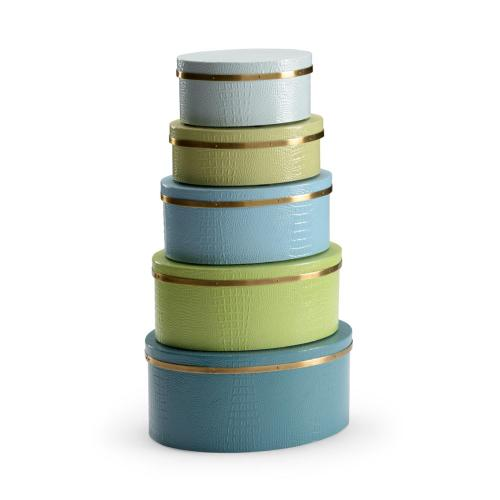 Oval Boxes - Blue/green (s5)