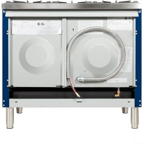 40 Inch Blue Dual Fuel Natural Gas Freestanding Range