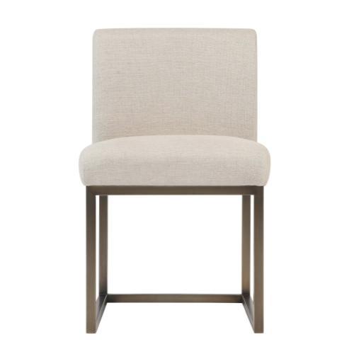 Tov Furniture - Haute Beige Linen Chair in Brass