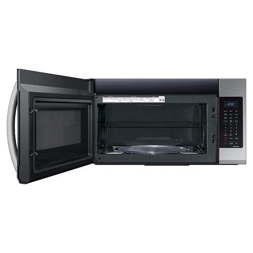 Samsung - 1.9 cu. ft. Smart Over-the-Range Microwave with Wi-Fi and Sensor Cook in Stainless Steel