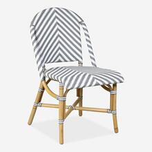 Ezra Bistro Side Chair, Grey and white