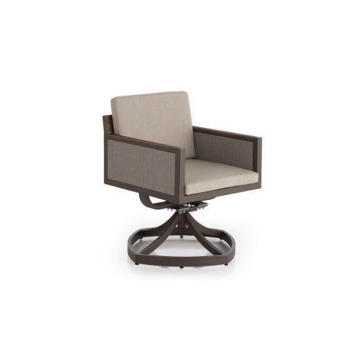 Hewitt Dining Swivel Rocker w/ seat and back cushions