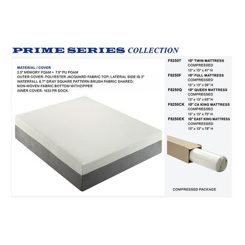 Updated Furniture - Classic Foam Mattress, Queen, 10-thick