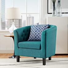 Prospect Upholstered Fabric Armchair in Teal