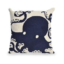 View Product - Liora Manne Frontporch Octopus Indoor/Outdoor Pillow Navy
