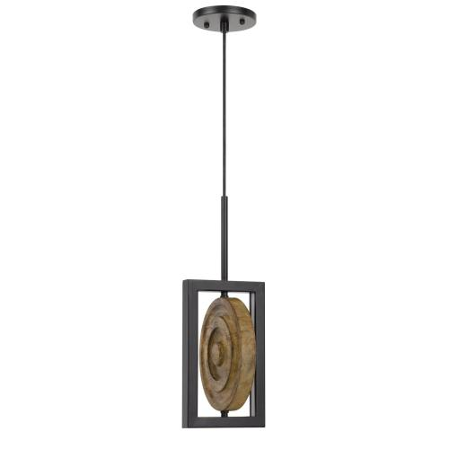 Fano integrated dimmable LED wood/metal mini pendant fixture. 16W, 1280 lumen. 3000K