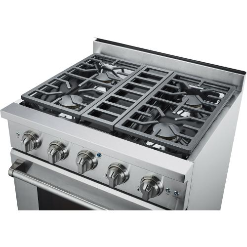 "30"" Professional Style Gas Range in Stainless Steel"