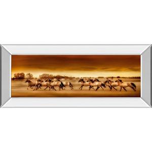 """Argentine Horses"" By Bobbie Goodrich Mirror Framed Print Wall Art"
