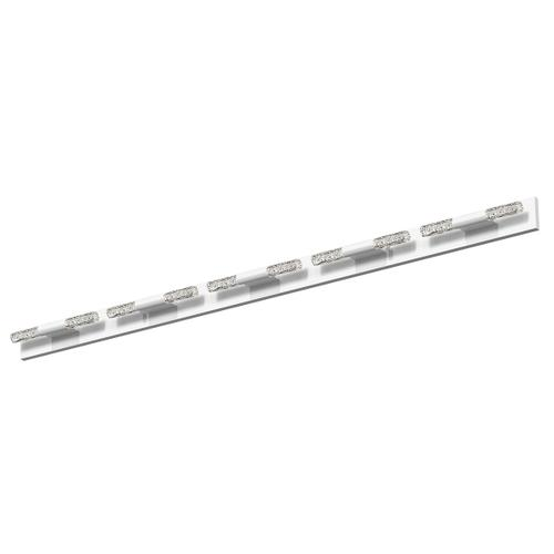 Sonneman - A Way of Light - Crystal Rods LED Bath Bar [Size=10-Light, Color/Finish=Satin White w/Ribbed Seeded Crystal]