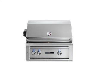 """30"""" Sedona by Lynx Built In Grill with 1 Stainless Steel Burner and ProSear Burner and Rotisserie, NG"""