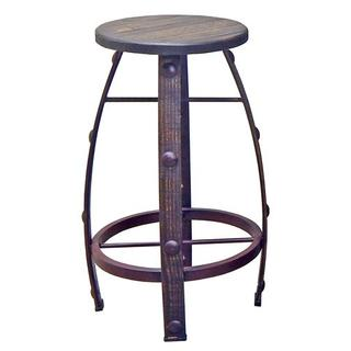Medium W Wax Round Barstool