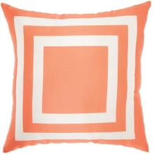 "Outdoor Pillows As551 Orange 20"" X 20"" Throw Pillow"