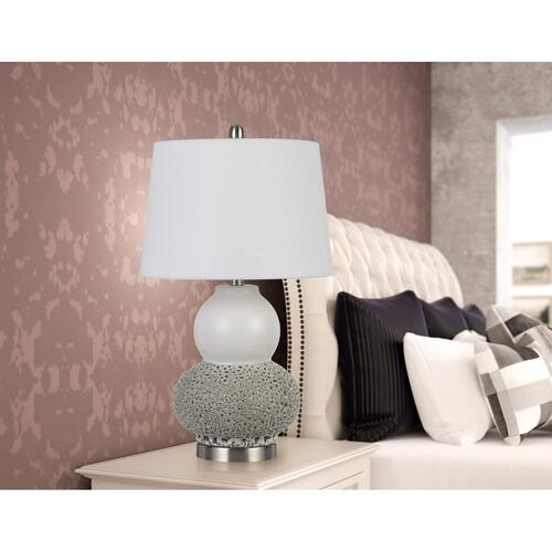 Cal Lighting & Accessories - Aigio 100W On Off Ceramic Table Lamps (Sold And Priced As Pairs)