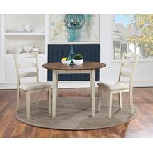 Murphy 3-pc Dining Set With Tabacco Top and Cream Base