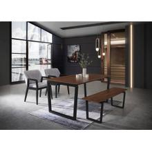 Modrest Escot - Modern Walnut and Black Dining Set