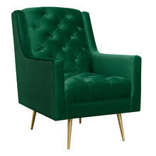 View Product - Bryan Accent Chair w/ Gold Legs