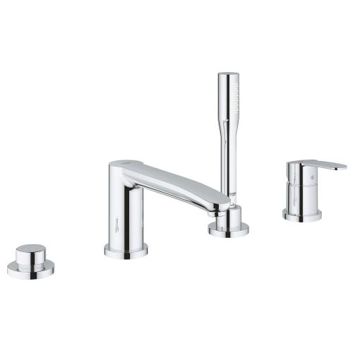 Eurostyle Cosmopolitan 4-hole Single-handle Deck Mount Roman Tub Faucet With 1.75 Gpm Hand Shower