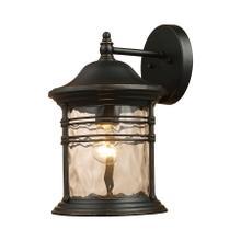 Madison 1-Light Outdoor Wall Lantern in Matte Black