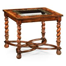 """Oyster & eglomis e side table (24"""")"""