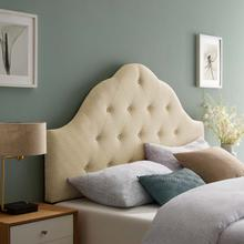 See Details - Sovereign Queen Upholstered Fabric Headboard in Beige