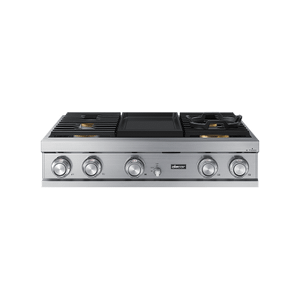 """Dacor36"""" Rangetop, Silver Stainless Steel, Natural Gas"""