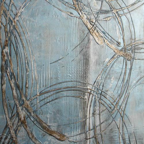 Interlock Hand Painted Canvas