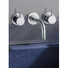 Two-handle build-in mixer with 1/4 turn ceramic disc technology - Light blue