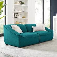 Comprise 2-Piece Loveseat in Teal