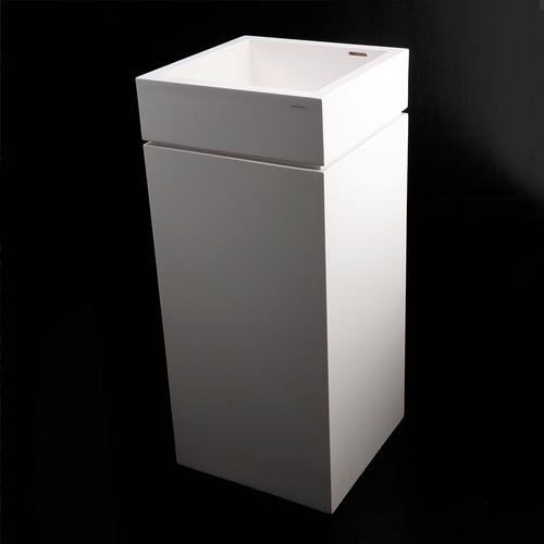 """Pedestal made of solid surface for Bathroom Sink 5125 (sold separately), 16""""W x 16""""D x 28""""H"""