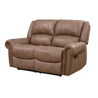 Spencer Motion Loveseat Brown