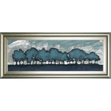 """Tree Row Sunset"" By Dan Meneely Framed Print Wall Art"
