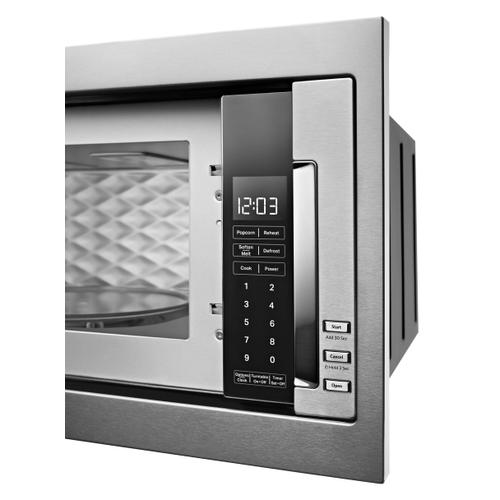 1000 Watt Built-In Low Profile Microwave with Slim Trim Kit - Stainless Steel