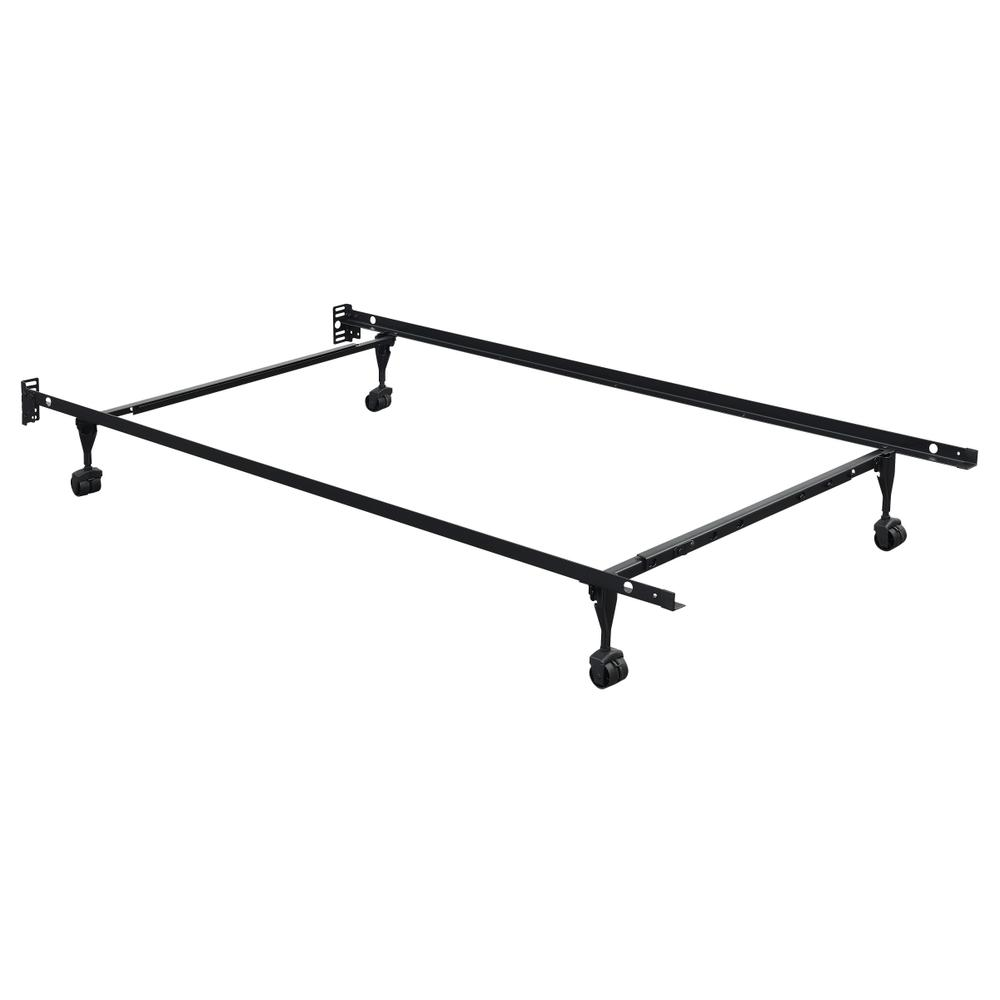 Metal Frame Twin/full Bedframe, Black Fr3346