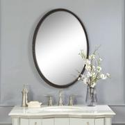 Sherise Bronze Oval Mirror Product Image