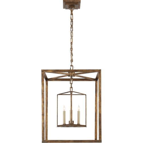 Visual Comfort CHC2217GI E. F. Chapman Osborne 3 Light 18 inch Gilded Iron Foyer Pendant Ceiling Light