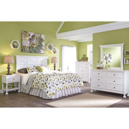 Product Image - Queen Panel Headboard With Mirrored Dresser