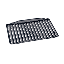 Broiling and roasting insert for universal tray with PerfectClean finish.