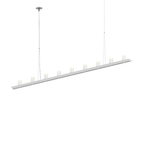 "Sonneman - A Way of Light - Votives LED Bar Pendant [Size=6', Color/Finish=Satin White, Shade Size=3"" height x 2.25"" diameter]"